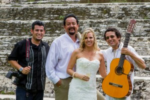 With my amazing clients at Xunantunich Mayan Temples. Destination Wedding Photographer. Belize Photographers.