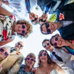 Fun Wedding Group Photo - Ramon's Village Resort - Belize Weddings