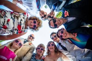 Fun Wedding Group Photo - Ramon's Village Resort - Belize Weddings