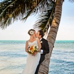 Romance under a coconut tree, Ambergris Caye, Belize Wedding, Casa Caracol