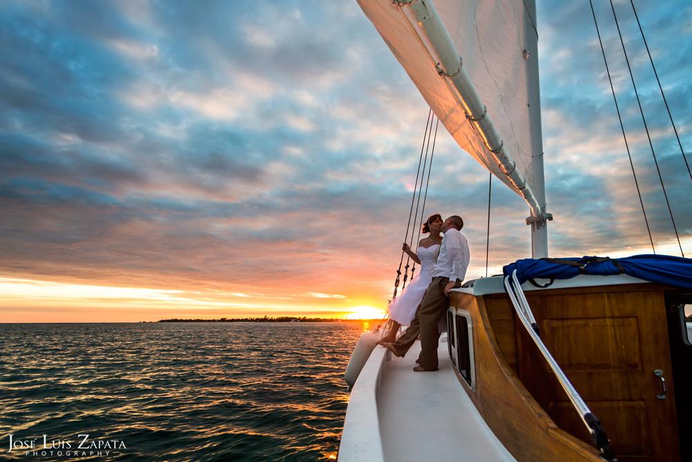 Destination Wedding Photography | Sunset Sailing Wedding | Ambergris Caye, Belize Photographer