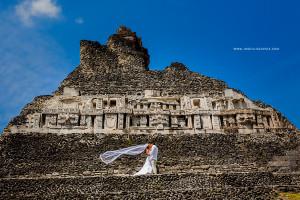 Xunantunich Mayan Ruins Wedding , San Jose, Succotz, Belize - Destination Belize Weddings
