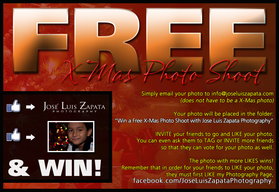 Win a Free Christmas Photo Shoot with Jose Luis Zapata