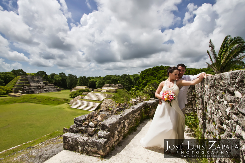 Belize Mayan Ruin Wedding at Altun Ha with Jose Zapata Photography and romactictravelbelize.com