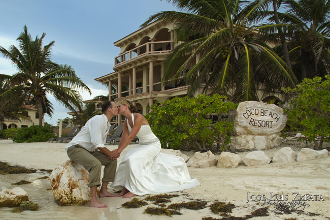 Beach Wedding Coco Beach Resort | Ambergris Caye Photographer