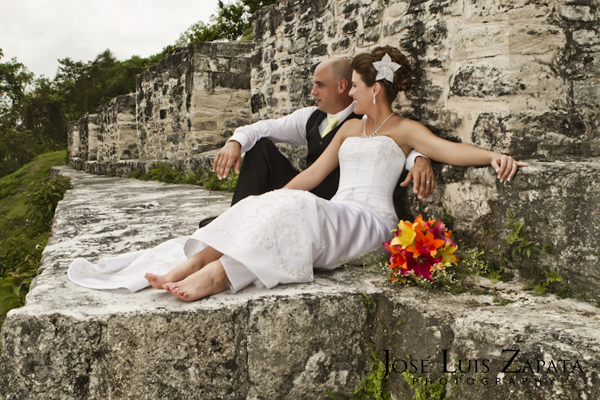 Mayan Ruin Wedding in Belize - Maya Ruin Wedding at Xunantunich Archaeological Site.