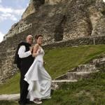 Mayan Ruin Wedding in Belize - Maya Ruin Wedding at Xunantunich Archaeological Site.