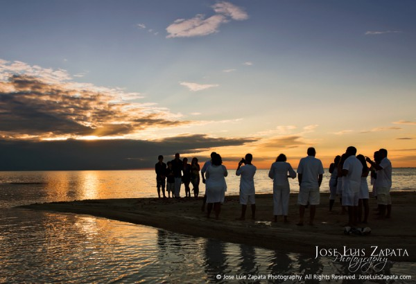 Sandbar Belize beach destination wedding