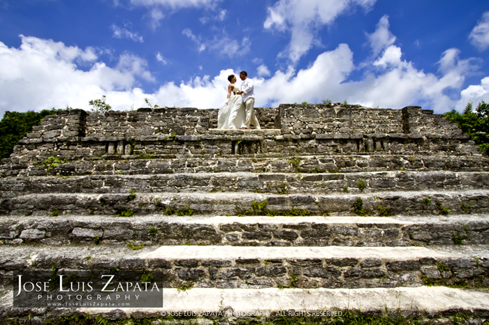 Maya Ruin Wedding Photography by Jose Luis Zapata, Belize Photographer