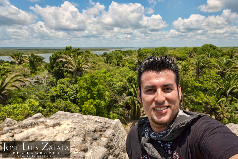 Photographer Jose Luis Zapata at Lamanai Maya Ruin in Belize | Destination Wedding Photographer
