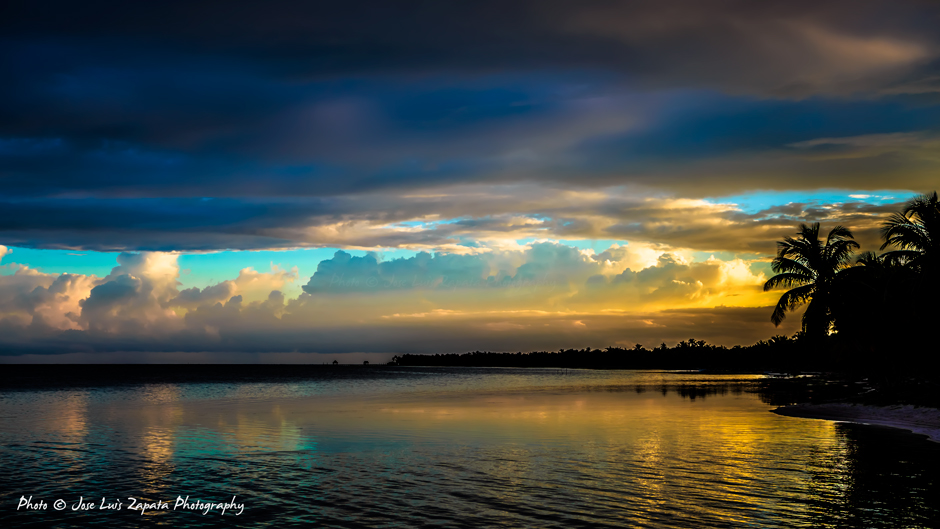 One of the many Beautiful Sunsets we witness in our Beautiful  Ambergris Caye, Belize