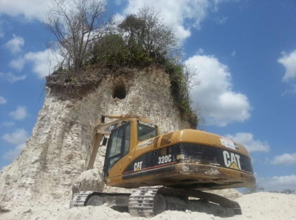 Nohmul Maya Ruin destroyed in Belize.