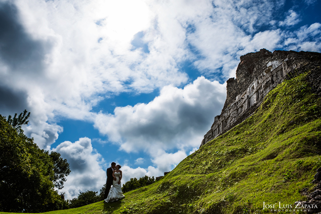 Destination Mayan Ruin Wedding, Xunantunich Maya Site, San Ignacio, Cayo, Belize Photographer