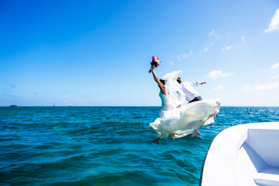 Trash the Vera Wang | Trash the Dress at Turneffe Island Resort | Destination Belize Wedding Photographer