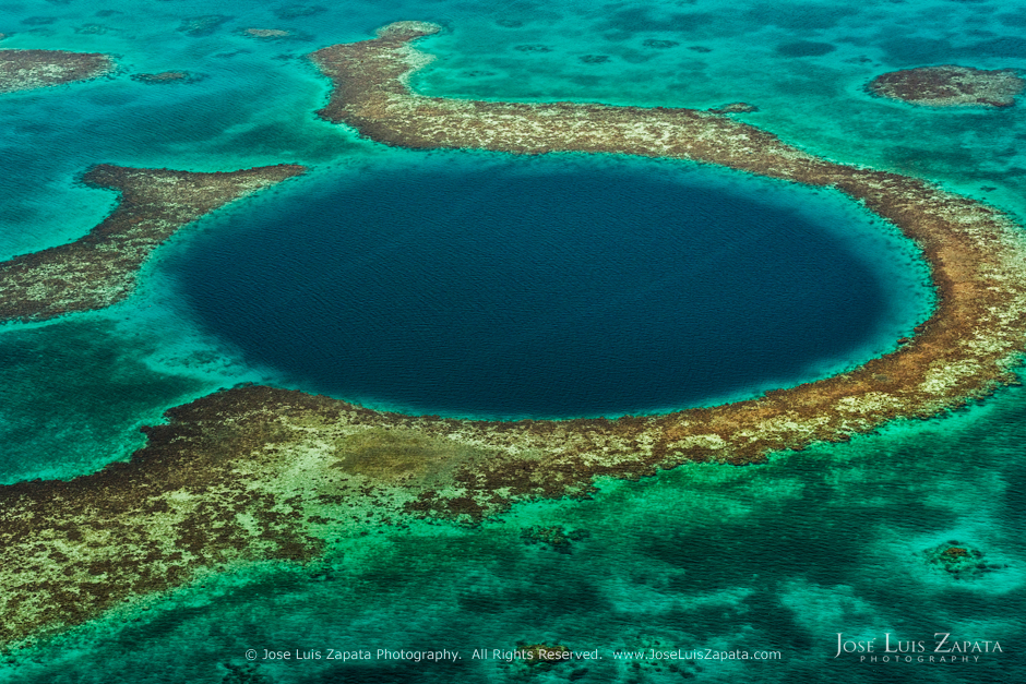 The Great Blue Hole in Belize, Central America