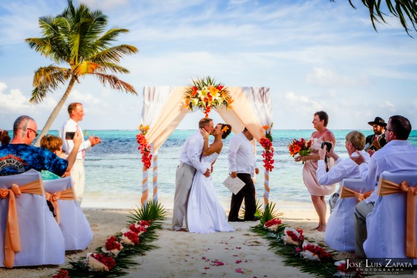 Belize Beach Wedding, X'Tan Ha Resort, Ambergris Caye, Belize
