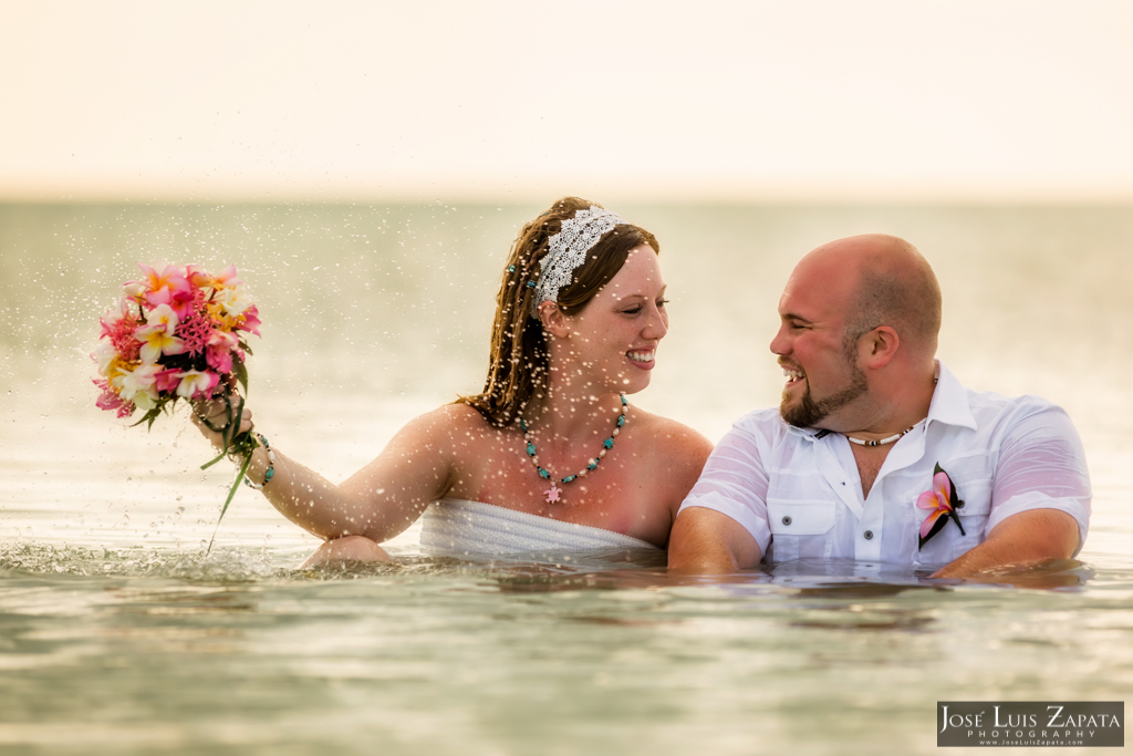 Sandbar Belize Wedding, San Pedro Ambergris Caye Jose Luis Zapata Photography