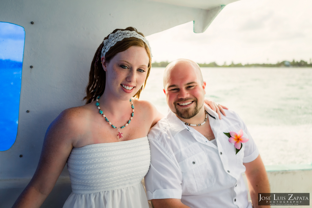 Sandbar Wedding, San Pedro Ambergris Caye Belize Jose Luis Zapata Photography