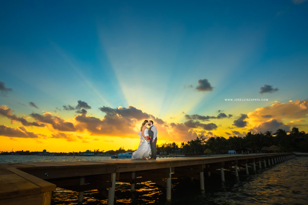Sunset Wedding - Belize Photographer - Belize Elopement Packages