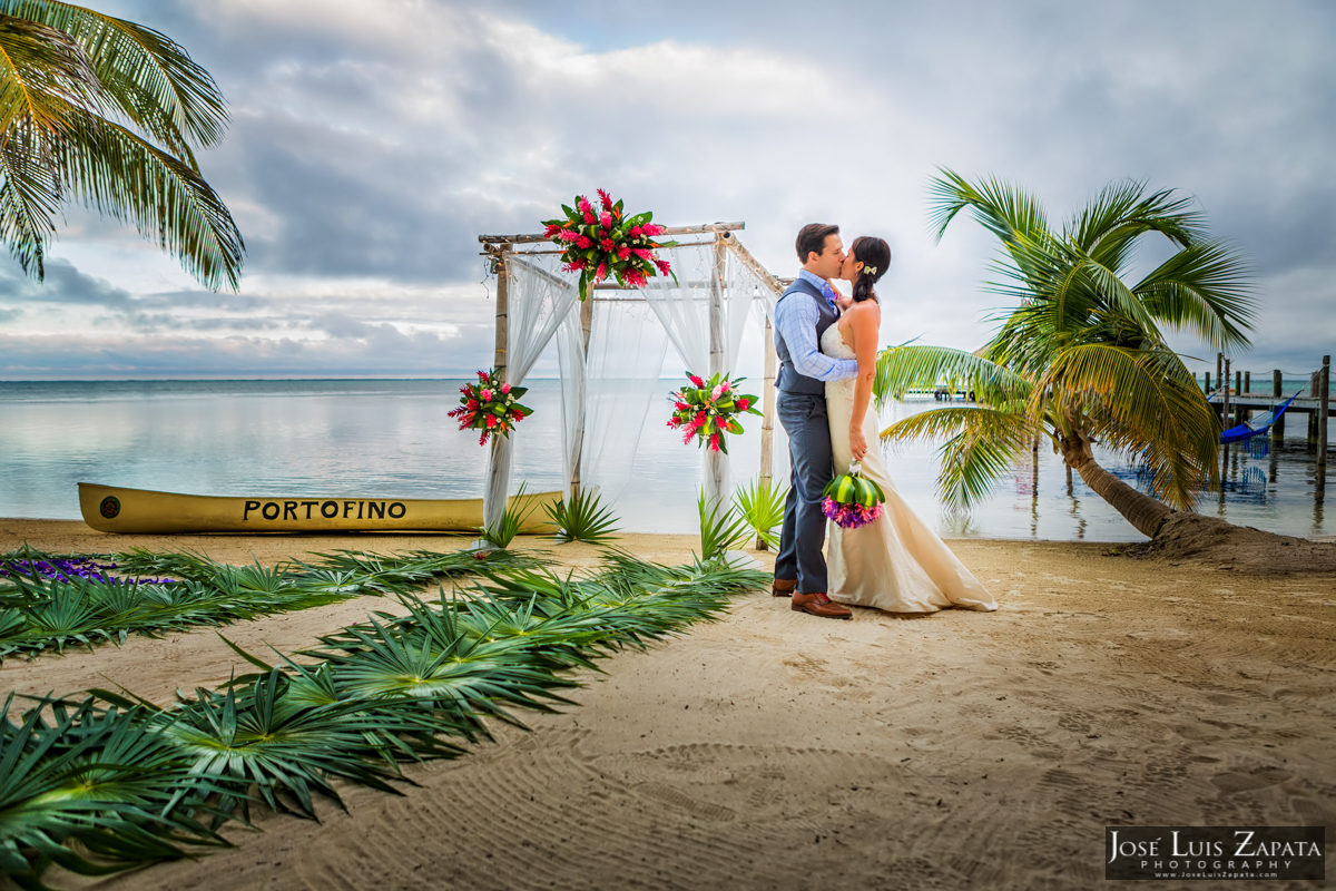 Portofino Beach Wedding. Ambergris Caye Photographer