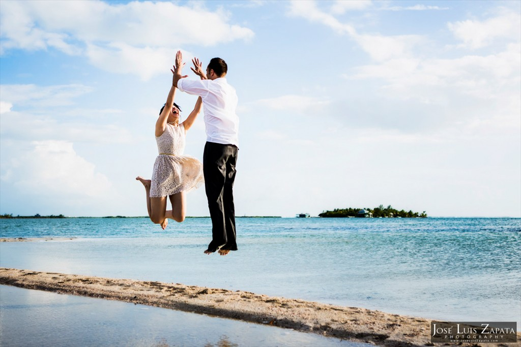 Sandbar Wedding - San Pedro Belize Photographer