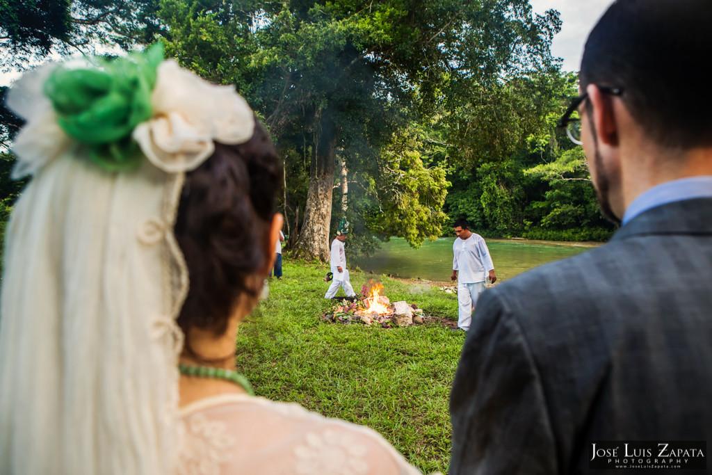 Mayan Wedding - Mayan Ruin Wedding - Fire Maya Ceremony in Cayo Belize by the Mopan River