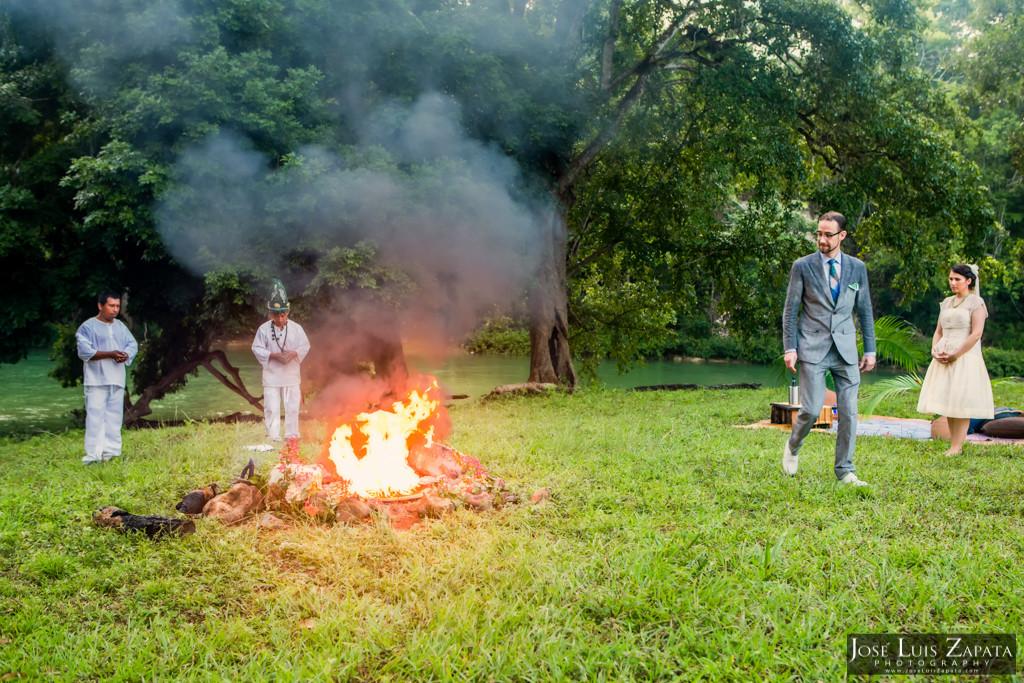 Mayan Ruin Wedding Fire Maya Ceremony Belize River