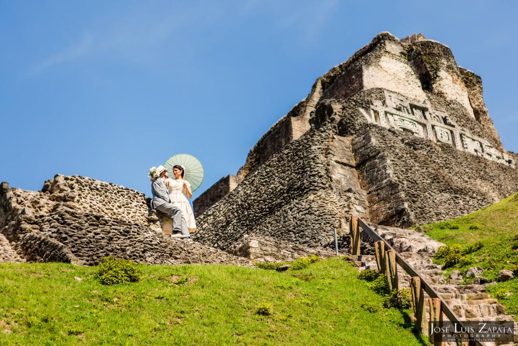 Mayan Wedding - Mayan Ruin Wedding, Xunantunich Maya Site - Cayo, Belize
