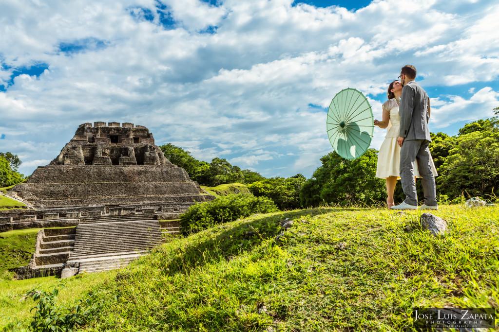 Mayan Ruin Wedding Xunantunich Maya Site Cayo Belize