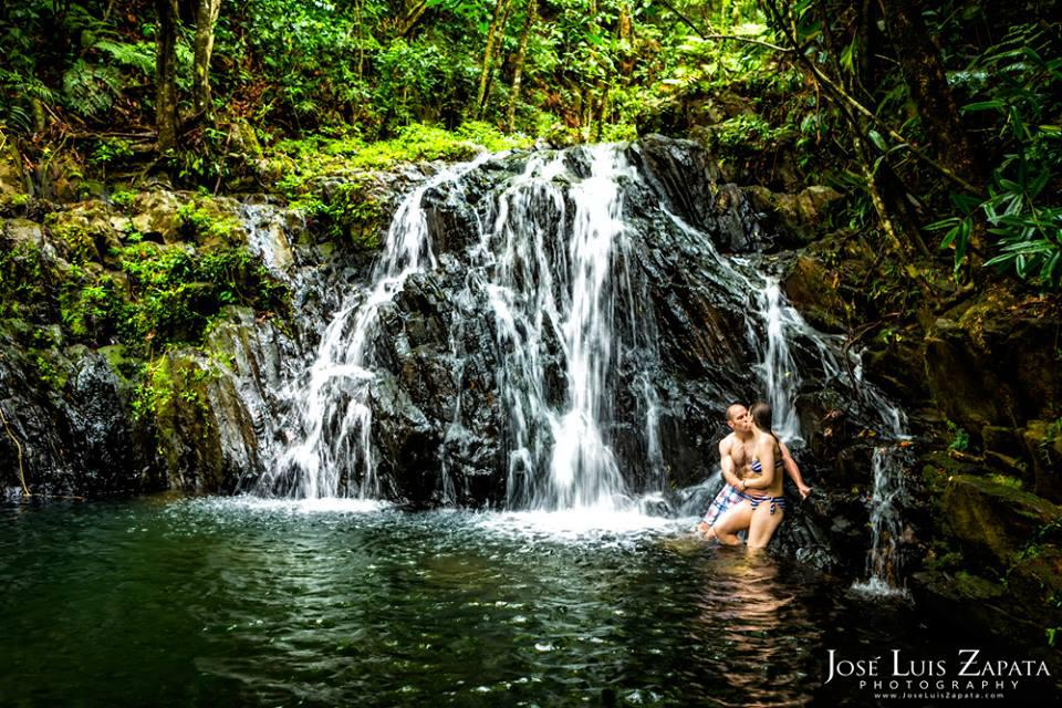 Luxury Honeymoon Belize Vacations - Honeymoon Photo Shoots at May Flower  1000 ft Waterfall, Stann Creek District.