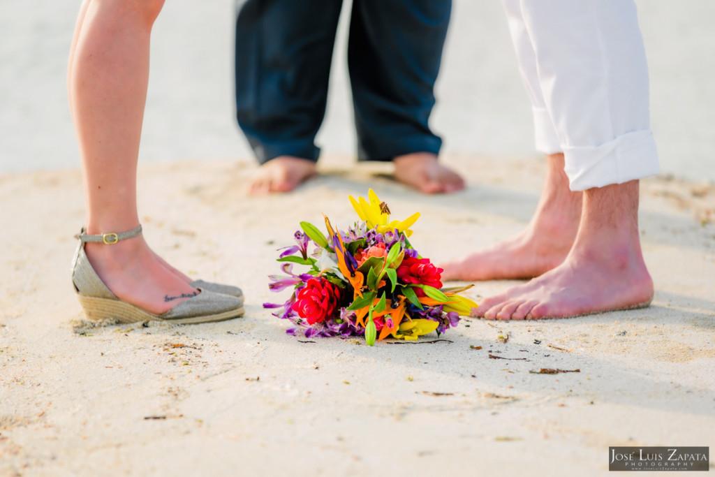 San Pedro Elopement Sandbar Wedding, Ambergris Caye, Belize Wedding