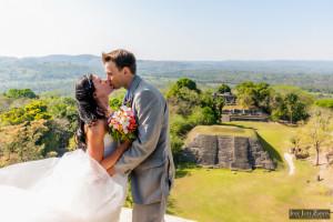 Mayan Wedding and Next Day Beach Photos in Belize - Xunantunich, San Pedro Ambergris Caye