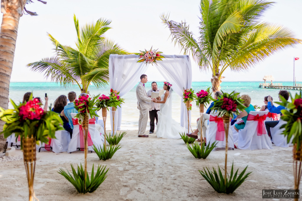 Wedding Ceremony with Family and Friends and Ramon's Village Resort in San Pedro, Belize