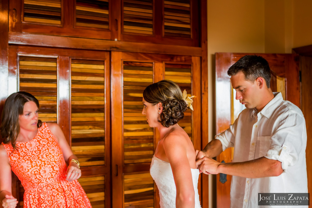 Chet & Kelli Coco Beach Wedding San Pedro Belize (10)