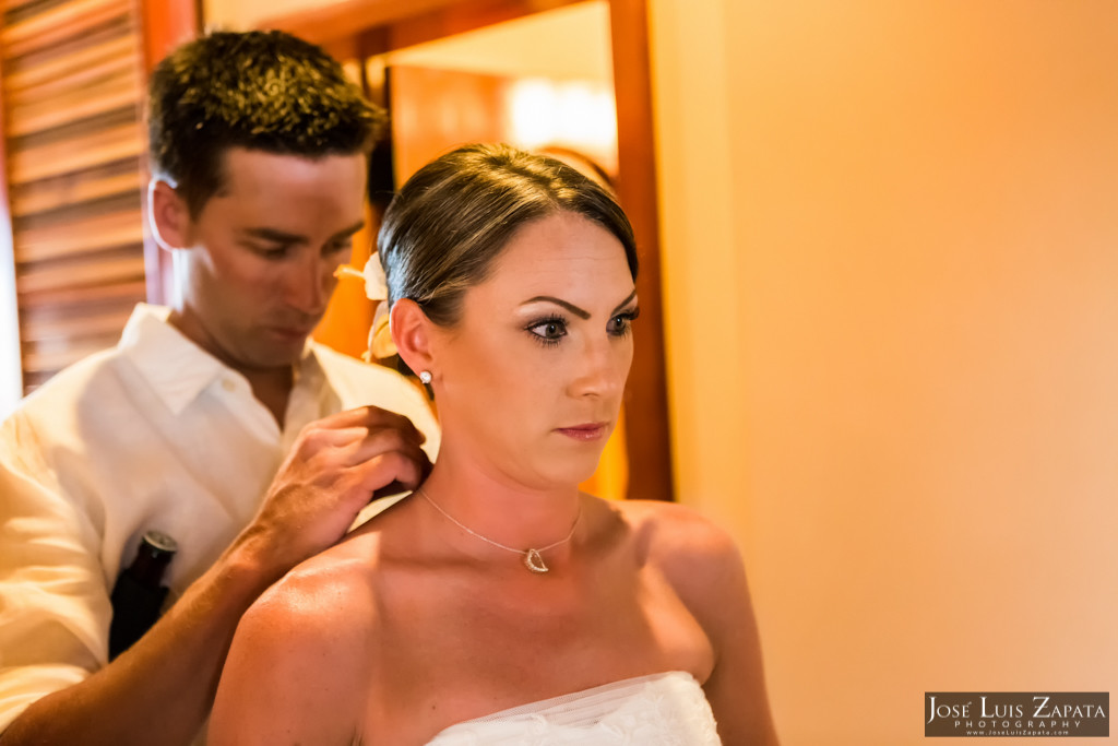 Chet & Kelli Coco Beach Wedding San Pedro Belize (12)