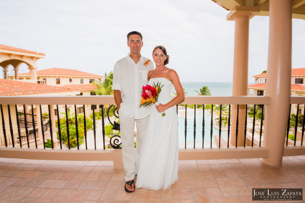 Chet & Kelli Coco Beach Wedding San Pedro Belize (16)
