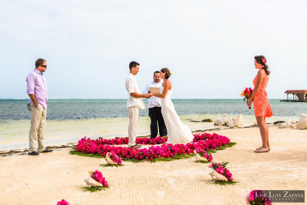 Chet & Kelli Coco Beach Wedding San Pedro Belize (19)