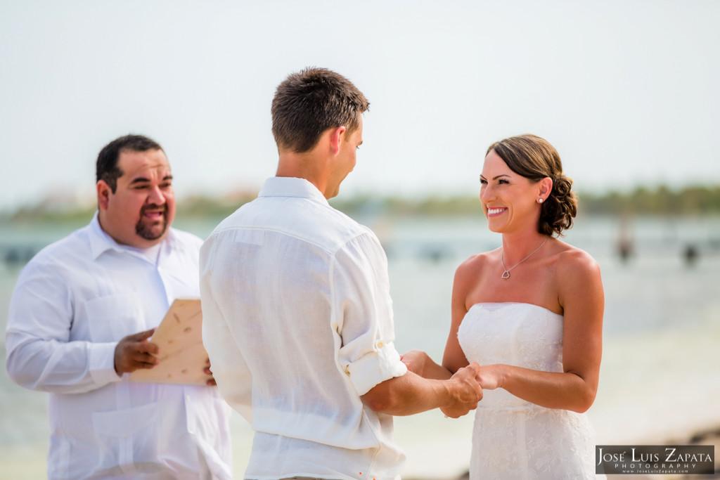 Chet & Kelli Coco Beach Wedding San Pedro Belize (20)