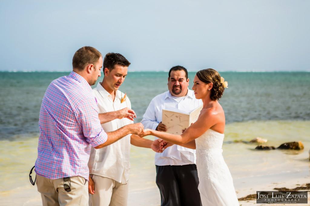 Chet & Kelli Coco Beach Wedding San Pedro Belize (21)