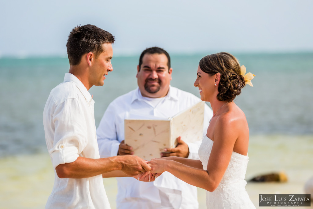 Chet & Kelli Coco Beach Wedding San Pedro Belize (22)