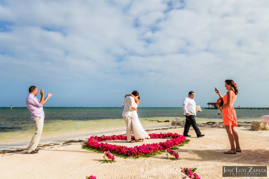 Chet & Kelli Coco Beach Wedding San Pedro Belize (25)