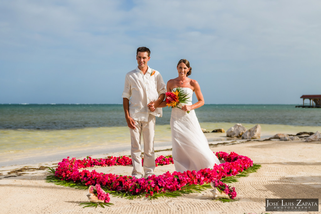 Chet & Kelli Coco Beach Wedding San Pedro Belize (27)