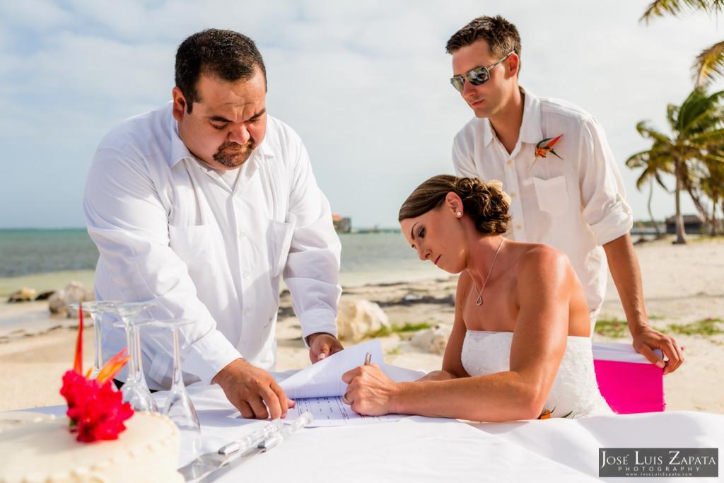 Chet & Kelli Coco Beach Wedding San Pedro Belize (28)