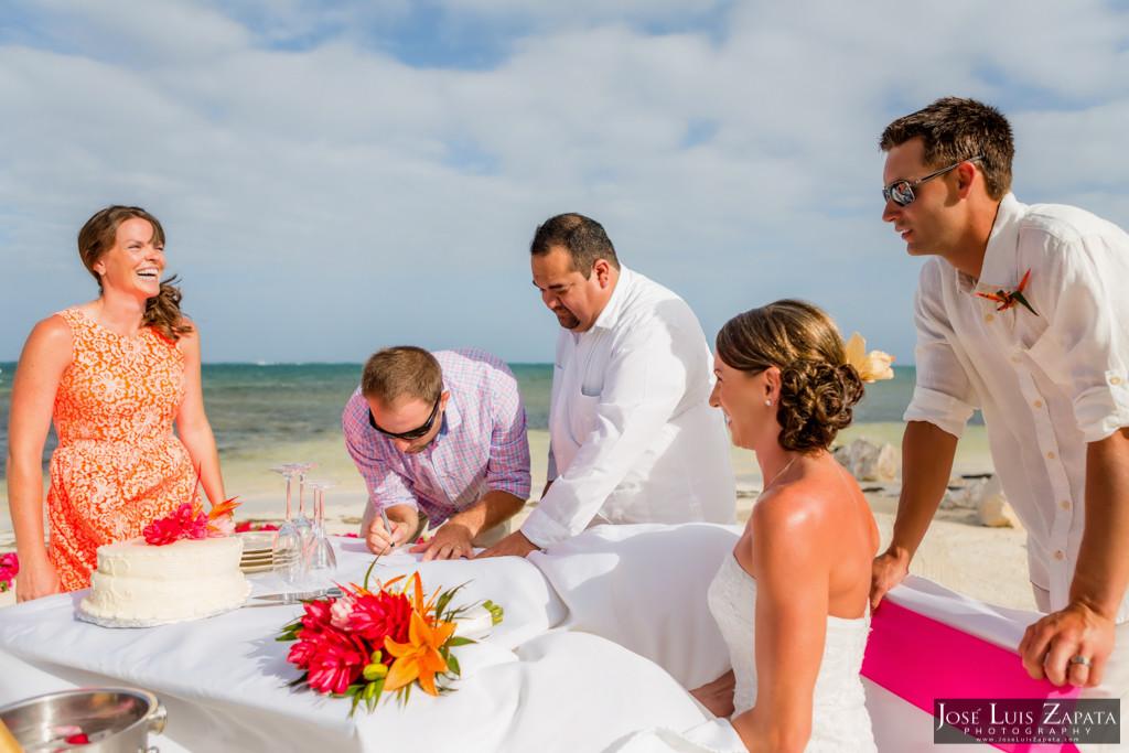 Chet & Kelli Coco Beach Wedding San Pedro Belize (30)