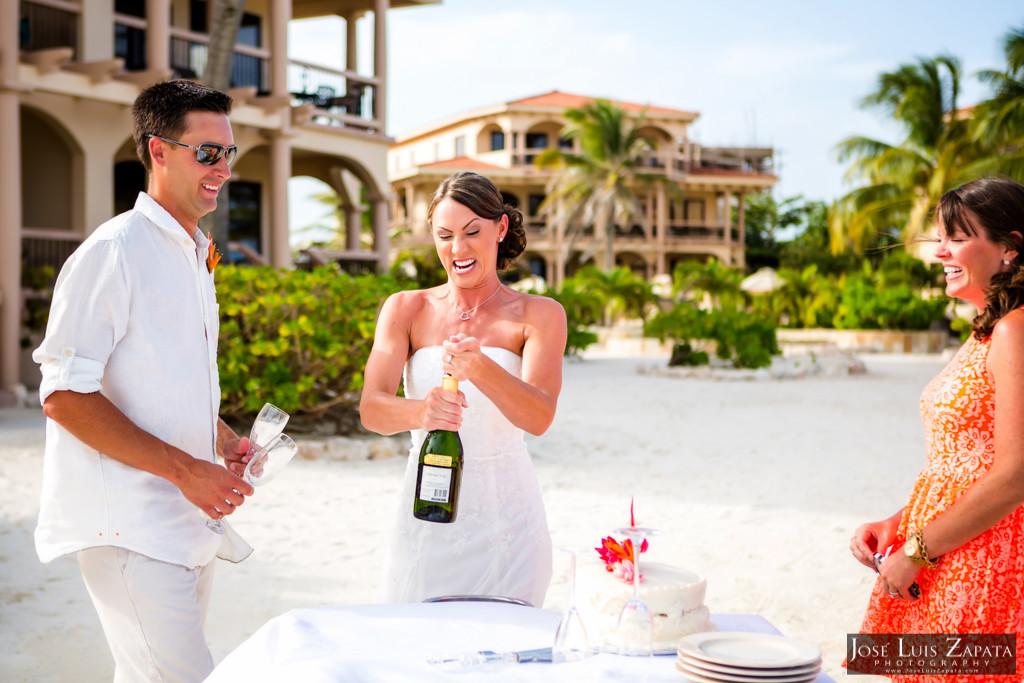 Chet & Kelli Coco Beach Wedding San Pedro Belize (34)
