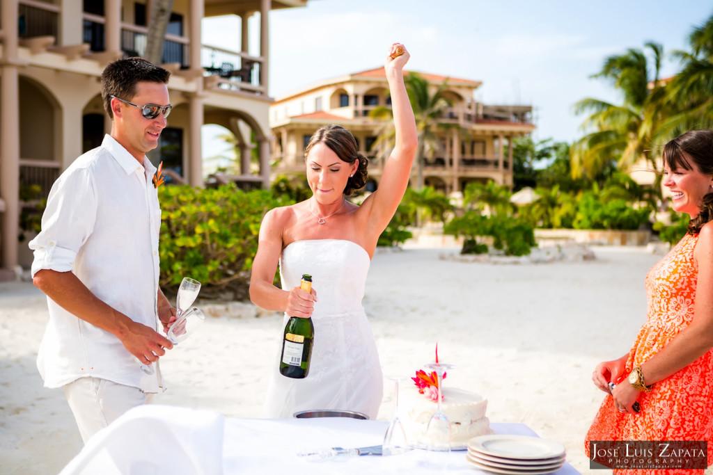 Chet & Kelli Coco Beach Wedding San Pedro Belize (35)