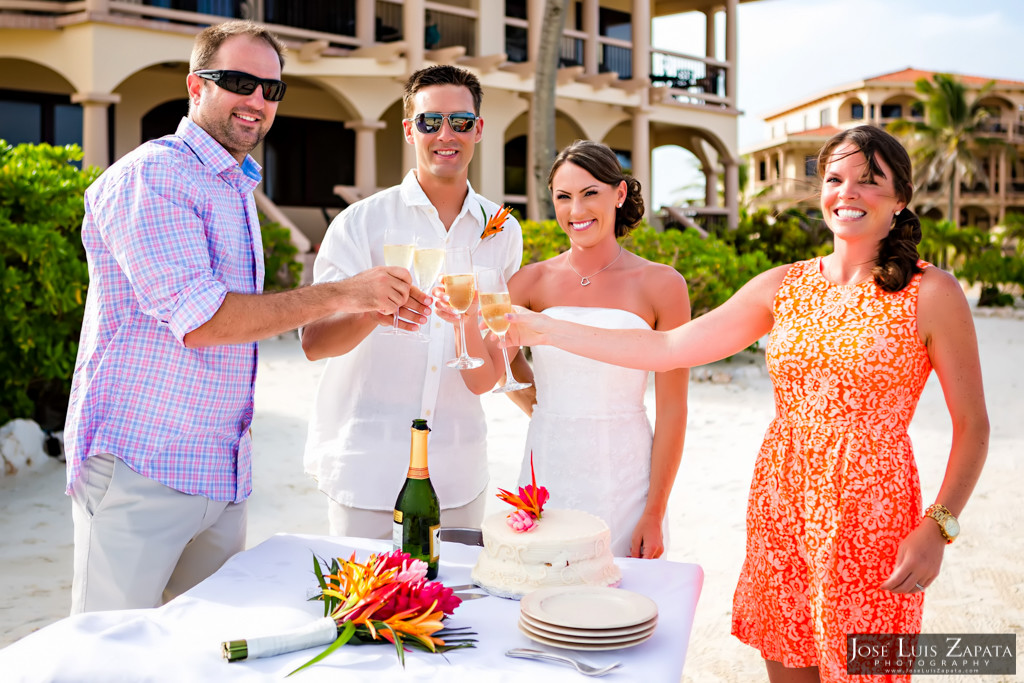 Chet & Kelli Coco Beach Wedding San Pedro Belize (36)