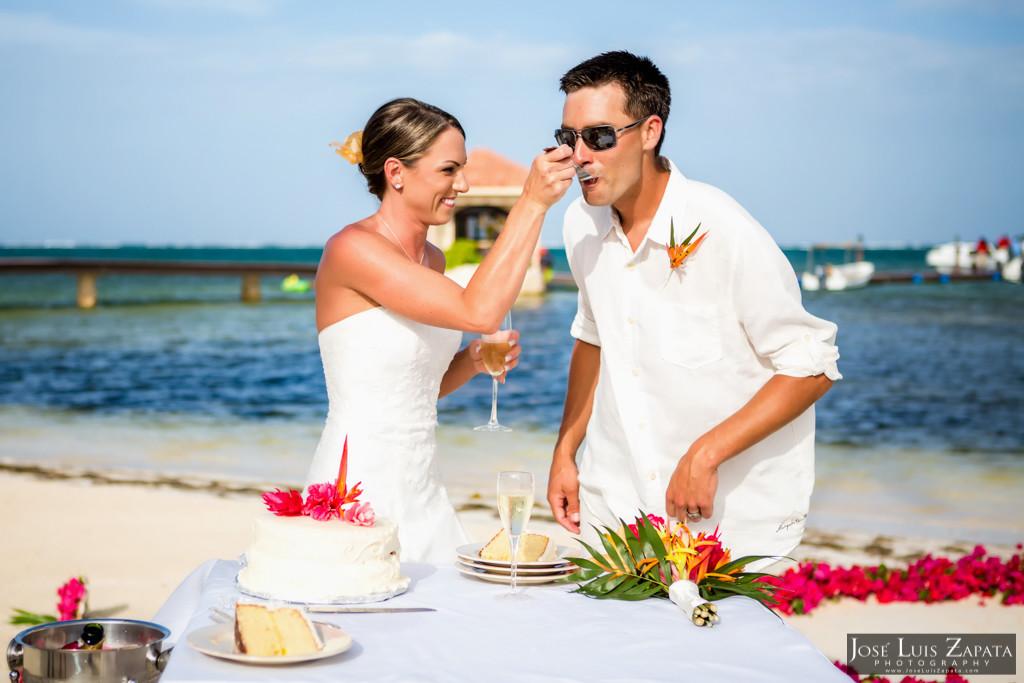 Chet & Kelli Coco Beach Wedding San Pedro Belize (39)