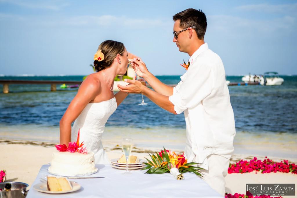Chet & Kelli Coco Beach Wedding San Pedro Belize (40)