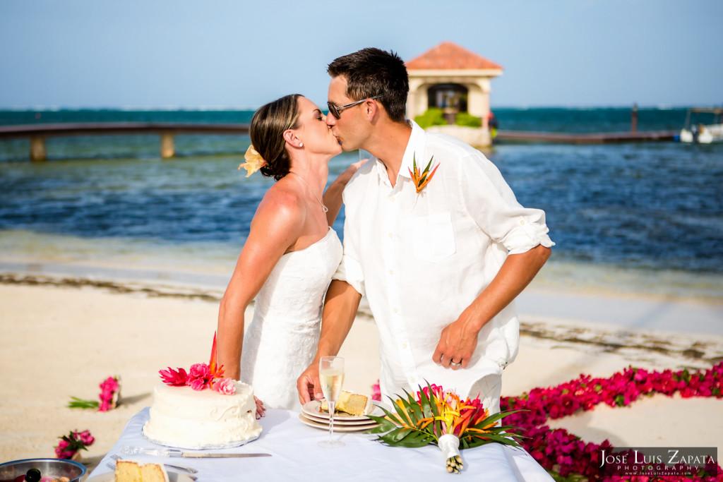 Chet & Kelli Coco Beach Wedding San Pedro Belize (41)